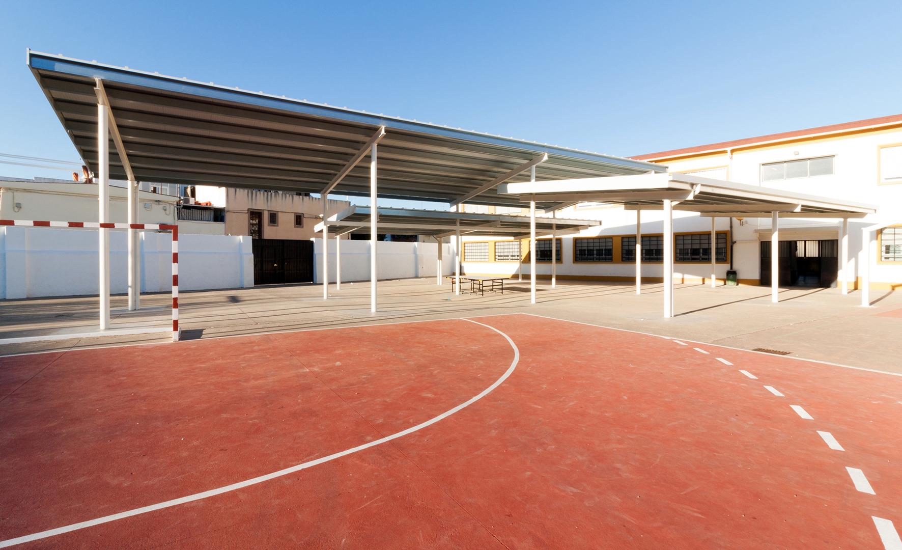 Porche del colegio p blico andaluc a en c rdoba unia arquitectos - Arquitectos en cordoba ...