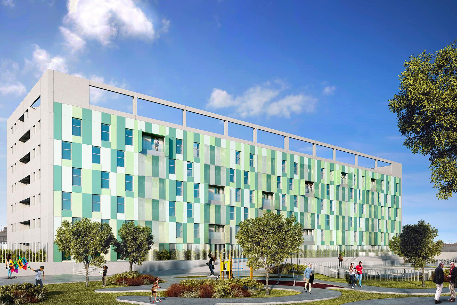 104 viviendas de protecci n oficial en c rdoba unia arquitectos - Arquitectos en cordoba ...